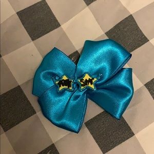 Other - Blue glitter and yellow rockstar hair bow
